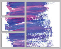 Art background business cards. Stroke of the paint brush. Stock Photo