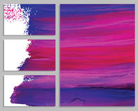 Art background business cards. Stroke of the paint brush. Royalty Free Stock Photography