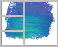 Art background business cards. Stroke of the paint brush. Royalty Free Stock Photos