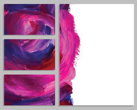 Art background business cards. Stroke of the paint brush. Stock Images