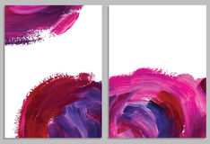 Art background business cards. Stroke of the paint brush. Stock Image