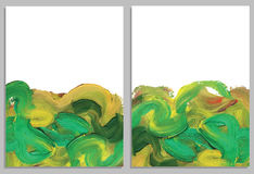 Art background business cards. Stroke of the paint brush. Stock Photos