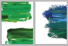 Art background business cards. Stroke of the paint brush. Stock Photography