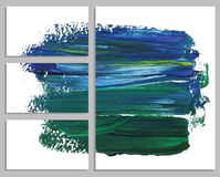 Art background business cards. Stroke of the paint brush. Royalty Free Stock Images