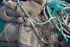 Art Background, Fishing Net On The Ship Royalty Free Stock Photo