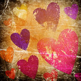 Art background with hearts Royalty Free Stock Photography