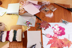 Art background  with scrapbooking elements Stock Images