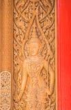 Art background. Thai art on the wooden door stock images