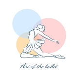 Art of the ballet logo with ballerina Royalty Free Stock Image