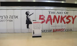 The Art of Banksy exhibition at the Arena Mall in Herzliya. Royalty Free Stock Image