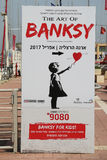 The Art of Banksy exhibition at the Arena Mall in Herzliya. Stock Photos