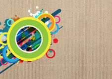 Art banner layout design. Background Royalty Free Stock Photo