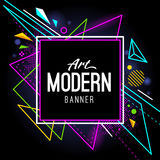 Art Banner moderno Fotografía de archivo