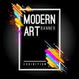 Art Banner moderno Fotos de archivo