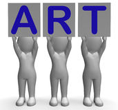 Art Banners Means Artistic Paintings et Images stock