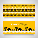 Art Banners tribal africain Photo libre de droits