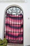 Art bars gate in Frigiliana, Spanish white village Andalusia Stock Photos