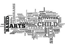 Art Based Activities Word Cloud Photo stock