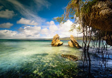 Art  beautifu seaside view  background Royalty Free Stock Photos