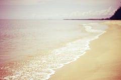 Art Beautiful Long Beach tropicale processo filtrato dell'estratto spiaggia di sabbia lunga fotografia stock libera da diritti