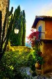 Art beautiful old town of Provence Stock Photos