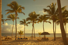 Art  beautiful retro seaside view Stock Images