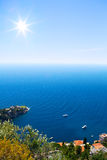 Art Beautiful sea Cote d'Azur in the day Stock Image