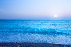 Art Beautiful sea Cote d'Azur in the evening Stock Images