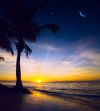 Art Beautiful sunrise over sea Royalty Free Stock Images
