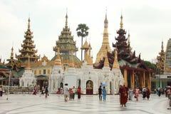 Art Beautiful Temple fino en Shwedagon Pagoda-Rangún, Myanmar fotografía de archivo