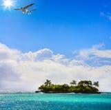 Art beautiful Tropical island Royalty Free Stock Photos