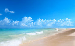 Art beautiful  tropical sea beach Stock Photos
