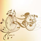 Art bicycle  from music notes Stock Photo