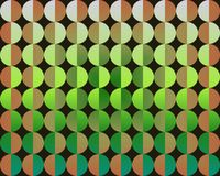 art big circles green half op orange Στοκ Φωτογραφία