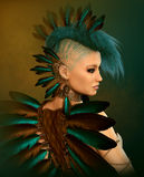 Art Bird moderno, 3d CG Fotografie Stock