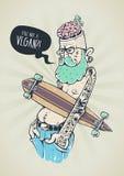 Art bizarre de hippie illustration de vecteur