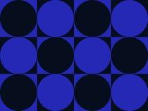 art black blue circles op squares Στοκ φωτογραφίες με δικαίωμα ελεύθερης χρήσης