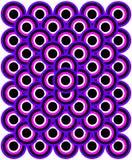 art black blue eyes op purple thousand white Στοκ εικόνες με δικαίωμα ελεύθερης χρήσης