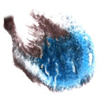 Art Black, bluewatercolor ink paint blob Royalty Free Stock Image