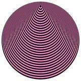 art black circles concentric light op over purple διανυσματική απεικόνιση