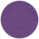 art black circles concentric op over violet απεικόνιση αποθεμάτων