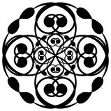 art black circular white Στοκ φωτογραφία με δικαίωμα ελεύθερης χρήσης