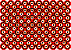 art black eyes op orange red thousand white απεικόνιση αποθεμάτων