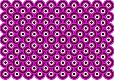 art black eyes op purple thousand white διανυσματική απεικόνιση