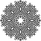 Art Black Floral Seamless Symmetric-Muster auf weißem Hintergrund Stockfoto