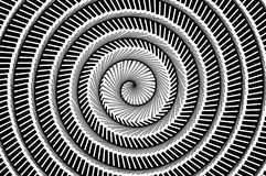 Art black and white spiral abstract pattern background Stock Photography