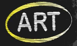 Art Blackboard Stockbild