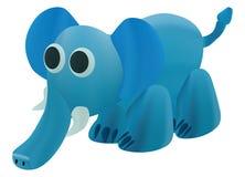 Art bleu d'éléphant comme la conception de pâte à modeler Photos stock