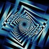 Art bleu-foncé abstrait du modèle 3d de spirales Image stock