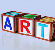 Art Blocks Show Inspiration Creativity en Originaliteit Stock Fotografie